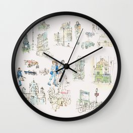 Sketches from Paris 02 Wall Clock