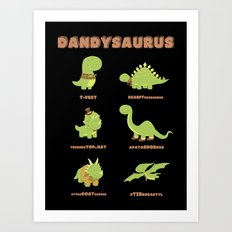 DANDYSAURUS - Dark Version Art Print