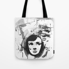 Audrey on a stencil Tote Bag
