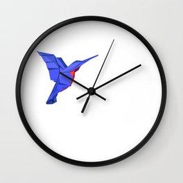 Origami Colibri Wall Clock