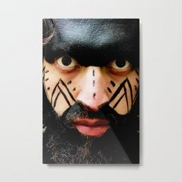Colombian Tribal Bear Mark Of Courage by Wendy C Vega Metal Print