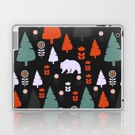 Bear forest at night Laptop & iPad Skin