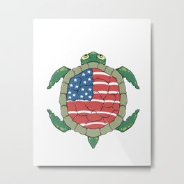 Like a turtle - Strong & Free Metal Print