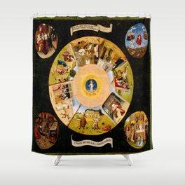 The Seven Deadly Sins and The Four Last Things Shower Curtain