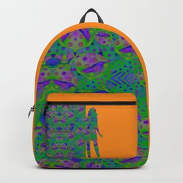 """Be yourself (Pop Fantasy Colorful Woman)"" Backpack"