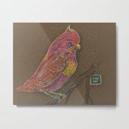 Vivid Bird Metal Print