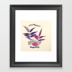Red Leaf and Twigs Collection Framed Art Print