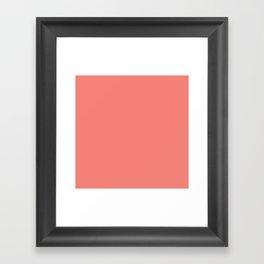 Coral Pink Solid Color Framed Art Print