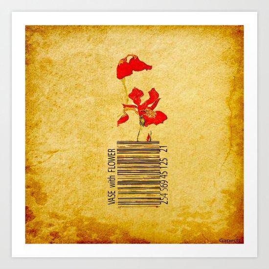vase of flower Art Print