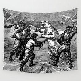 Battle with Animals Wall Tapestry