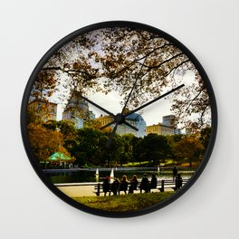 Relax in central park Wall Clock