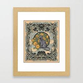 Cat Nouveau Framed Art Print