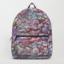 Grunge Organic Rocks Motif Pattern Backpack