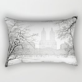 Winter - Central Park - New York City Rectangular Pillow