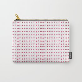Hand painted girly pink white watercolor polka dots Carry-All Pouch