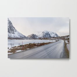 The road in the mountains Metal Print