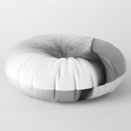Origin. Delicate Pussy of Sexy Nude Woman Floor Pillow