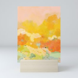 abstract spring sun Mini Art Print