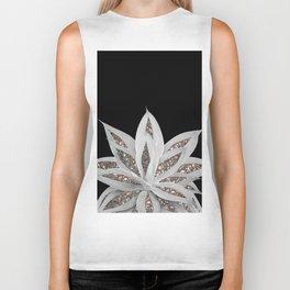 Gray Agave with Silver Glitter #1 #shiny #tropical #decor #art #society6 Biker Tank