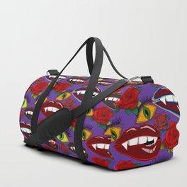 Creepy Girlish Pattern Duffle Bag