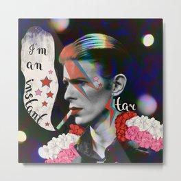 David Bowie - quote Metal Print