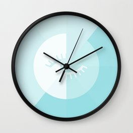 LOOK AT ME BLUE Wall Clock