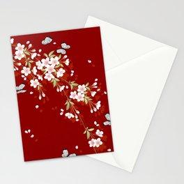 Japanese Sumi Cherry Blossom Print Stationery Cards
