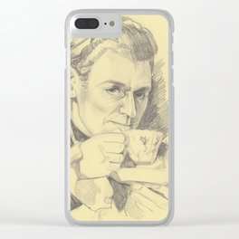 Grumpy Major Andre and his Tea Clear iPhone Case
