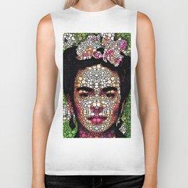 Frida Kahlo Art - Define Beauty Biker Tank