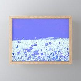 Ink Drop Blue Framed Mini Art Print