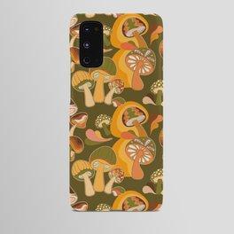 70s Mushroom, Retro Pattern Android Case
