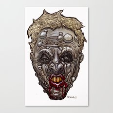 Heads of the Living Dead Zombies: Mean Mouth Zombie Canvas Print