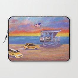 Redondo Beach Lifeguard Tower Laptop Sleeve