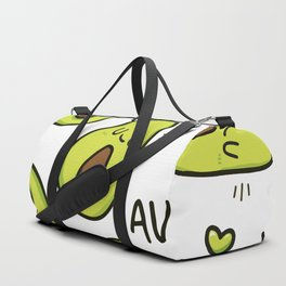 Avocado pattern Vector illustration Duffle Bag