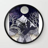 guardians Wall Clocks featuring Guardians by Yoly B. / Faythsrequiem