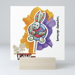 Rabbit horoscope Mini Art Print
