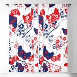 Video Game Red White & Blue 3 Blackout Curtain