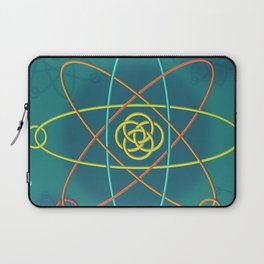Line Atomic Structure Laptop Sleeve