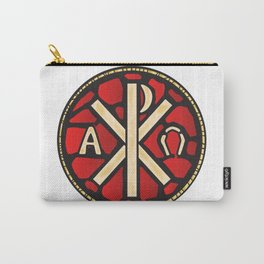 Alpha Omega Stain Glass Window Carry-All Pouch