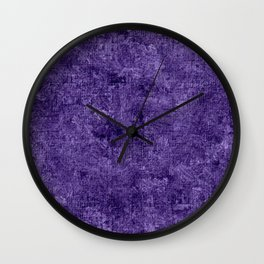 Gentian Violet Oil Painting Color Accent Wall Clock