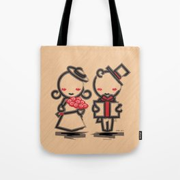Lovely Couple in 4 Colours Tote Bag