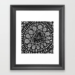 Black and White Doodle 7 Framed Art Print