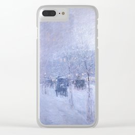 Late Afternoon, New York, Winter by Childe Hassam Clear iPhone Case
