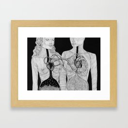 Höra ihop Framed Art Print