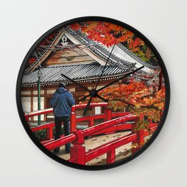 Shades of Autumn Wall Clock
