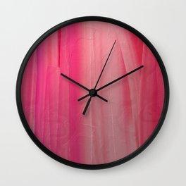 Cascade of Pink Wall Clock