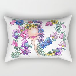 Flowers in Her Hair Rectangular Pillow