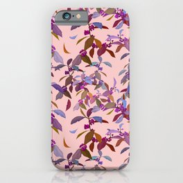 Beautyberry on Pink iPhone Case
