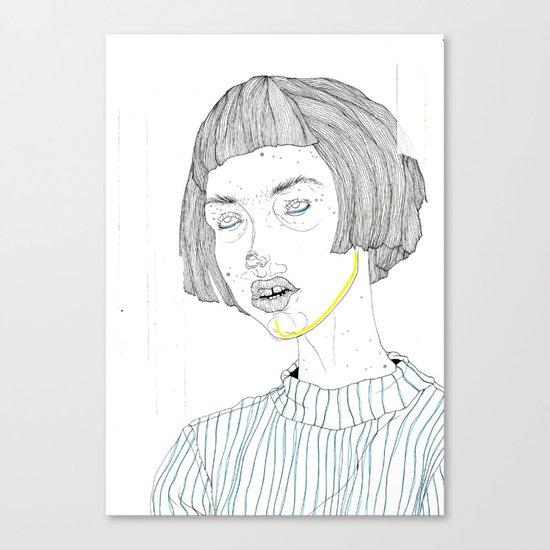 DoodleGirl Three Canvas Print