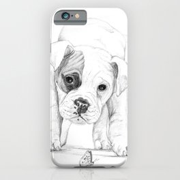 Patch, A Boxer Puppy :: Shelter Dog Project iPhone Case